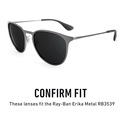 14ae72feb2 Revant Polarized Replacement Lenses for Ray Ban Erika Metal RB3539 Black  Chrome MirrorShield®  Amazon.co.uk  Clothing