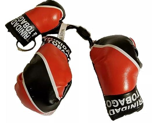 Trinidad y Tobago Bandera de guantes de boxeo llavero w ...