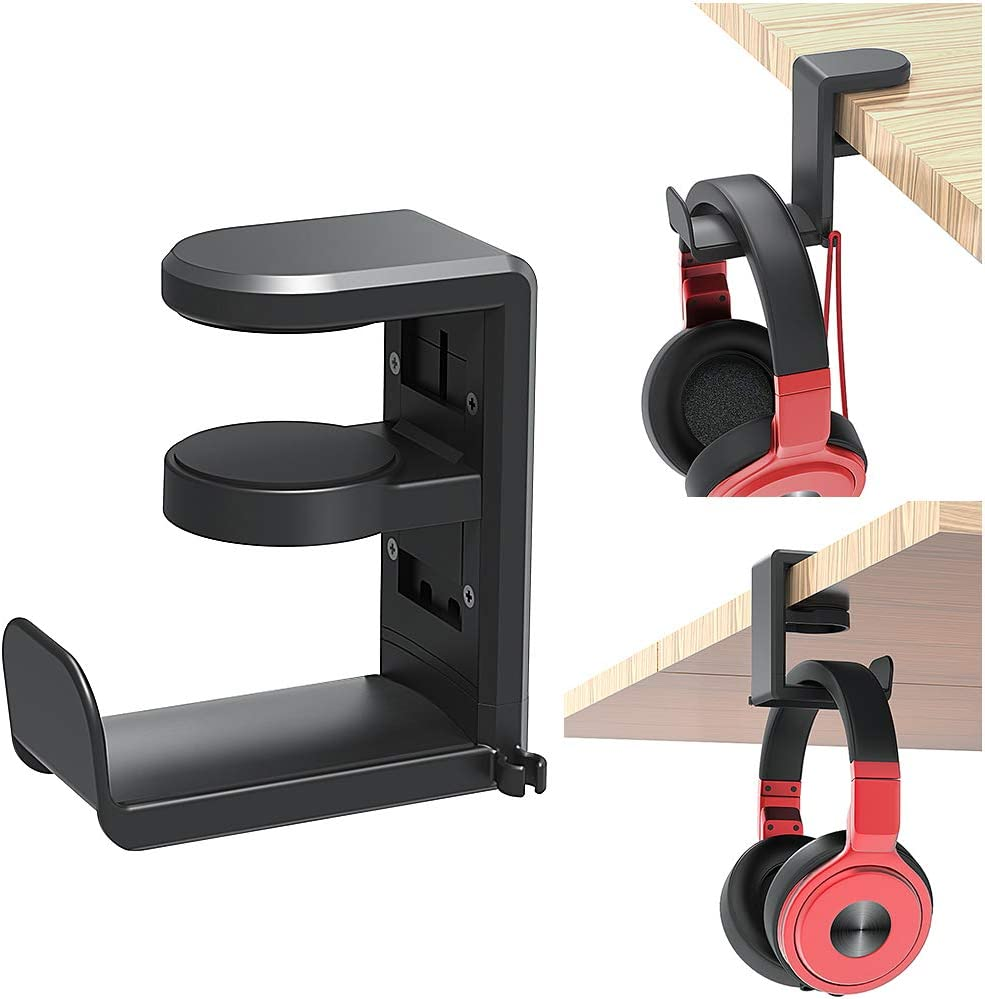 EURPMASK PC Gaming Headphone Stand with Rotating Arm Clamp