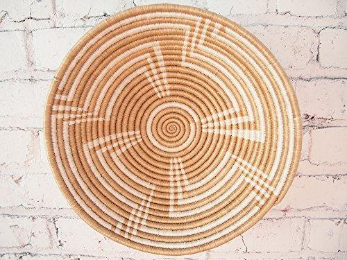 no / Rwanda Basket / Woven Bowl / Sisal & Sweetgrass Basket / Light Tan, White (Hand Woven Arts)