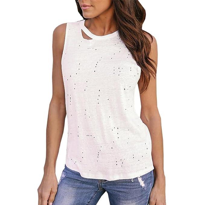 WINWINTOM Blusas y Camisas de Mujer, Verano Casual Camisetas y Tops, Verano Mujer Cultivo