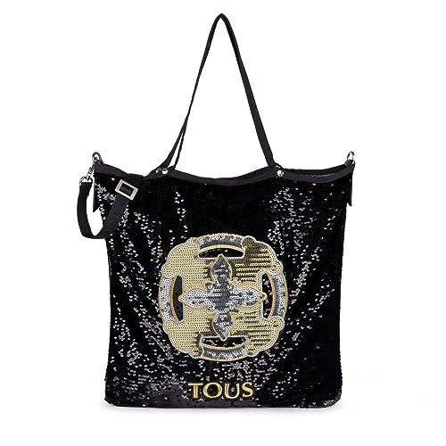 Tous Shopping, Shopper para Mujer, Negro (Black), 1x42x37 cm (W x H x L): Amazon.es: Zapatos y complementos