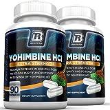 BRI Nutrition Yohimbine HCI - 90 Count 2.5mg Yohimbie Capsules, 2-Pack