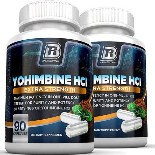 BRI Nutrition Yohimbine HCI - 90 Count 2.5mg Yohimbie Capsules, 2-Pack by BRI Nutrition