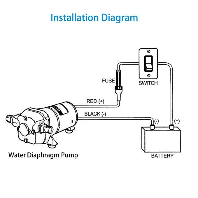 Dc12v self priming power water pressure diaphragm pump soft dc12v self priming power water pressure diaphragm pump soft noiseless 45gpm 17lmin 40psi for caravanrvboatmarine fast ship from us amazon ccuart Images