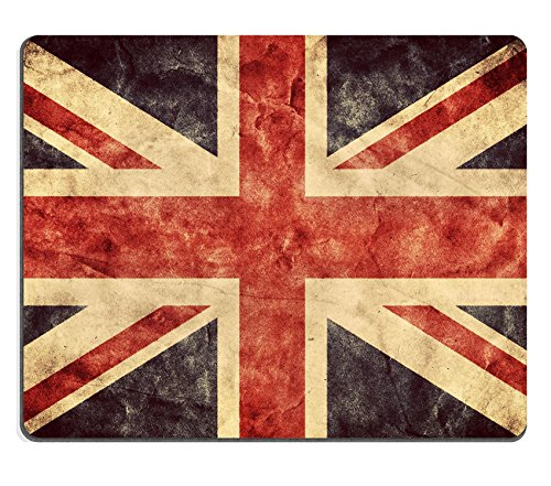 MSD Natural Rubber Mousepad IMAGE ID: 31476903 The United Kingdom or Union Jack grunge flag Vintage retro style High resolution hd quality Item from my grunge flags collection
