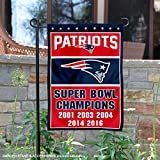 New England Patriots 5 Time Super Bowl Champions Double Sided Garden Flag