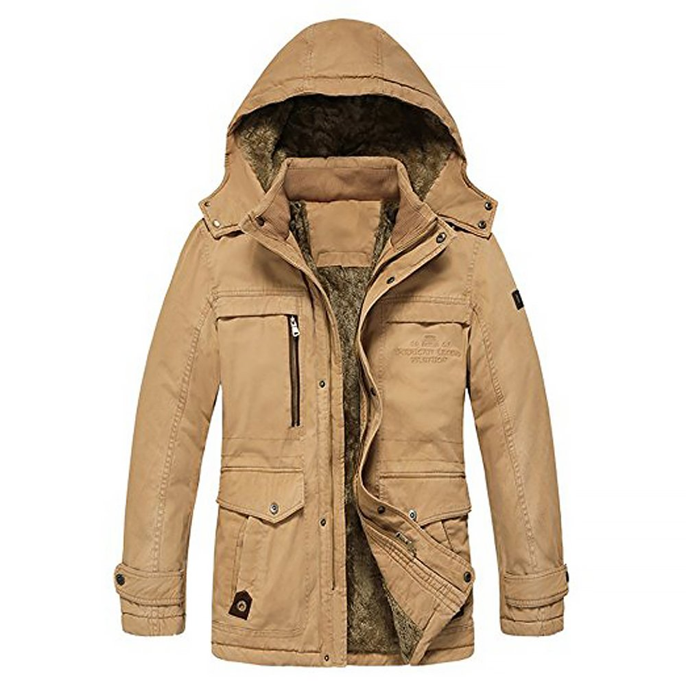 TTLIFE Excellent Homme Manteau d/'Hiver Veste Chaude en Cotton Parka d/'Hiver /à Capuchon Mens Outdoor Jacket Taille M//L//XL//XXL