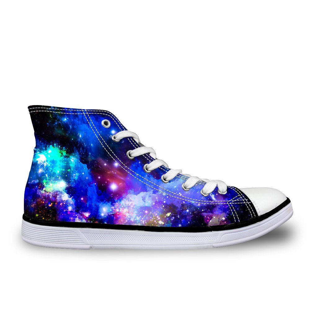 LedBack High Top Galaxy Canvas Shoes for Women Causal Sneakers Teenagers Girls Lightweight 3D Trainers B079HVTLB5 Size 10.5=Eur 43|Design 2
