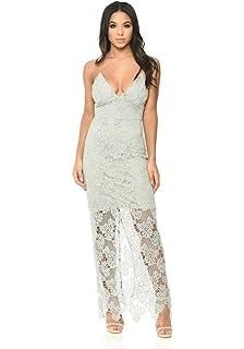 ee671f8734 AX Paris Women s Sequin Bodice Chiffon Maxi Dress at Amazon Women s ...