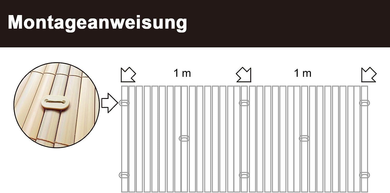 WOLTU GZZ1184gr3 Canniccio Frangivista Antivento Divisorio Decorativo Recinzione da Giardino Balcone in PVC