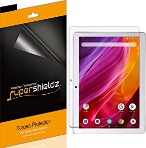 (3 Pack) Supershieldz for Dragon Touch K10 and Notepad K10 Tablet 10.1 inch Screen Protector, High Definition Clear Shield (PET)