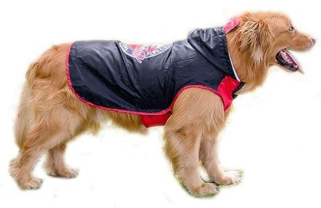 BPS® Chubasqueros Impermeables para Mascotas Perros, Impermeables con Capucha para Perro Mediano y Grande