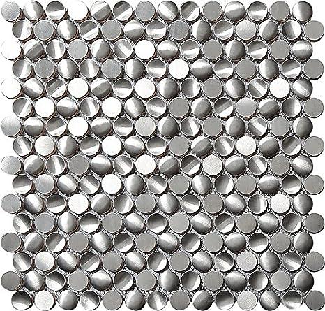 Amazon.com: Concave-convex Penny diseño redondo acero ...