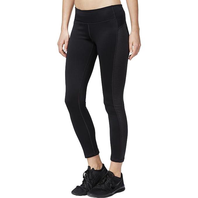1734c298b0d Ideology Womens Flex Stretch Fleece Athletic Leggings Black S at ...