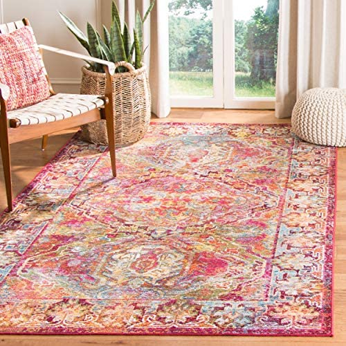 Cheap Safavieh Crystal Collection CRS516B Boho Chic Oriental Distressed Non-Shedding Stain Resistant Living Room Bedroom Area Rug living room rug for sale