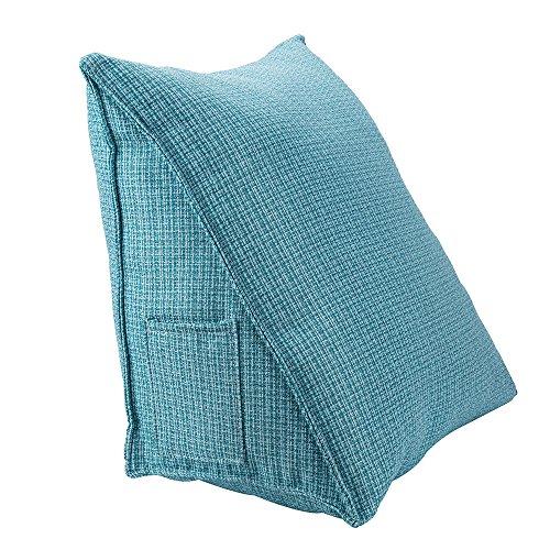 HALOViE Almohada lumbar espalda triangular almohadilla de cuna Sofa cama Silla de oficina coche cojin Ortopedico Ergonomico Mejora de la Postura desmontable 47x25x40CM
