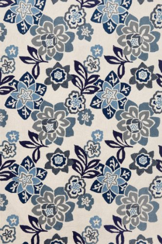 Liora Manne Ravella Floral China Rug, 24-Inch by 36-Inch, Blue