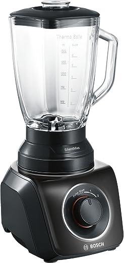 Bosch MMB42G0B mixer SilentMixx 700 W, thermosafe glas, roestvrij stalen mes, zwart