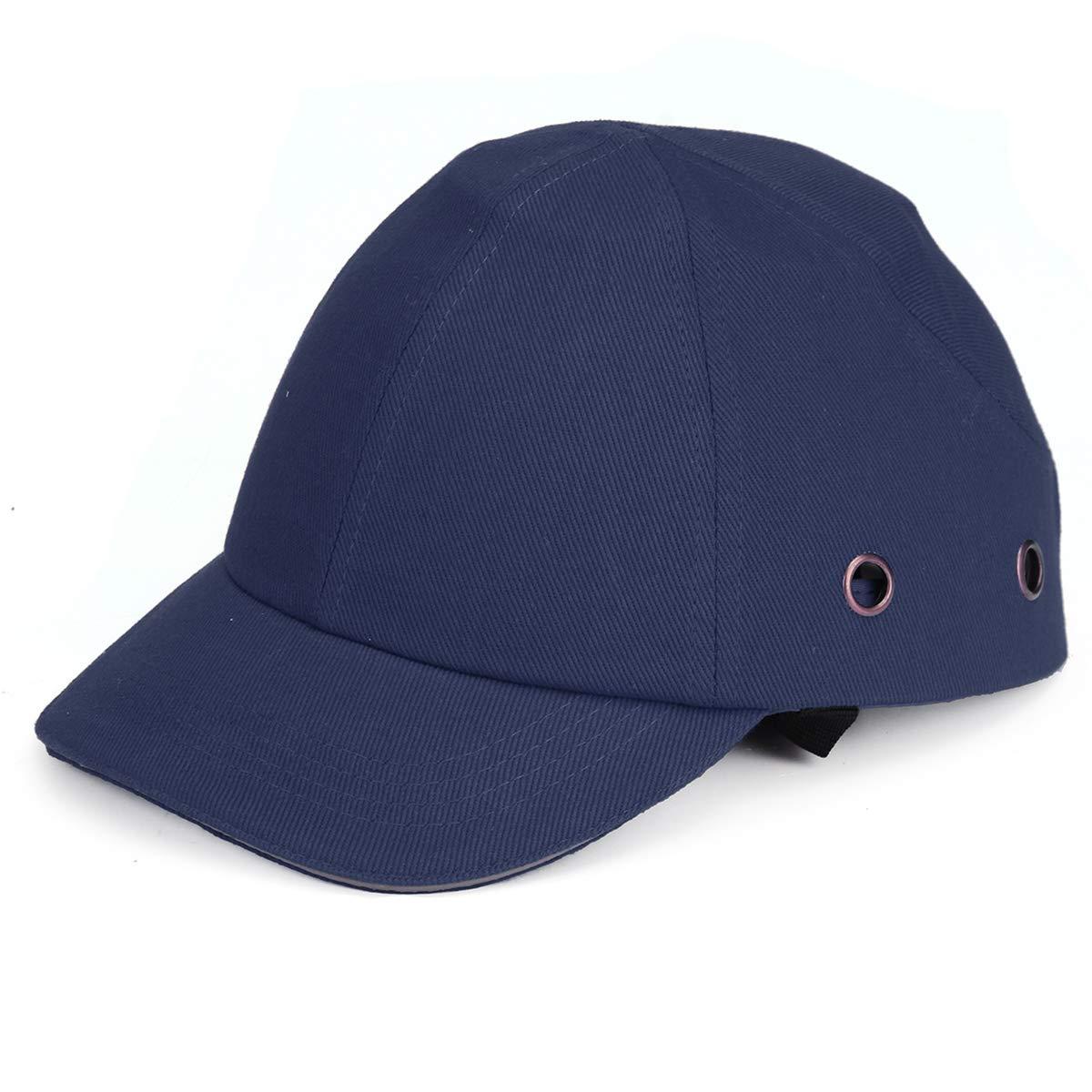 Rosso Viviance Mezza Faccia Casco Baseball Stile Cappello Duro Vent Cool Protettivo Bump Cap Sicurezza Workwear