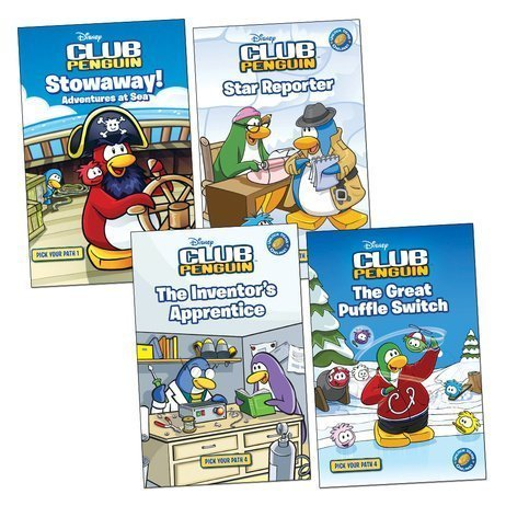 Club Penguin: Pick Your Path Pack, 4 books, RRP £15.96 (Stowaway!; Star Reporter; The Great Puffle Switch; The Inventor's Apprentice). PDF