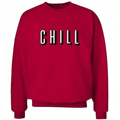 Amazon.com: Funny Netflix & Chill: Unisex Hanes Ultimate Crewneck ...