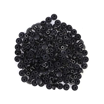 100Pcs Black Hinged Screw Cover Cap Covering Car Furniture Decor Replacement