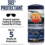303 (30397) Products Automotive Protectant Wipes - Ultimate UV Protection - Prevent Fading and Cracking - Repels Dust, Lint, and Staining - Non Greasy - 25 Wipes