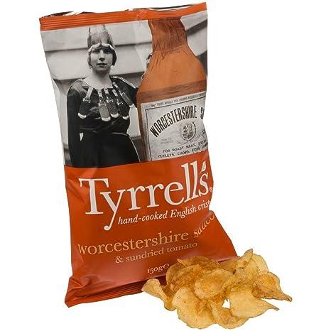 Tyrrells Tyrrells Salsa Worcester Y Patatas Fritas Tomates Secos 150g