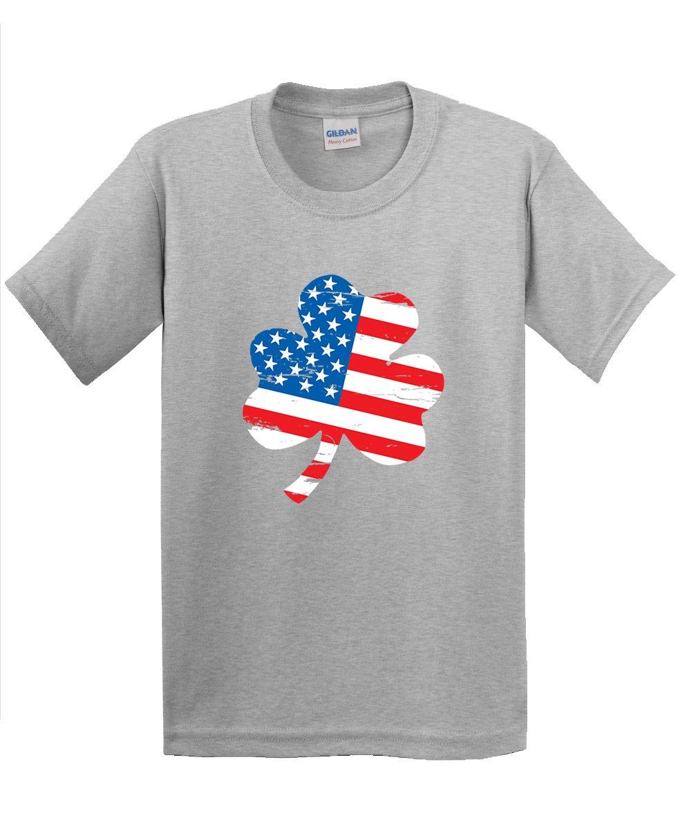 Clover Shaped American Flag St Patrick S Day Saint Paddy Irish Pats Sarcastic Funny T Shir