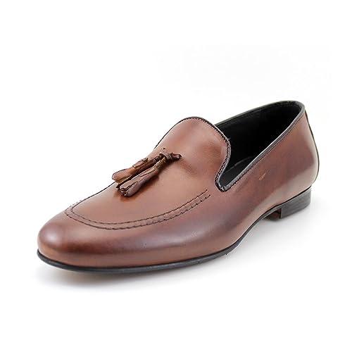 GIORGIO REA Mocasines Belgian Loafers Zapatos Para Hombre Hechos a Mano EN Italia (41,
