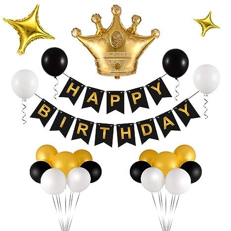 Amazon.com: Triwol - Kit de decoración de cumpleaños con ...