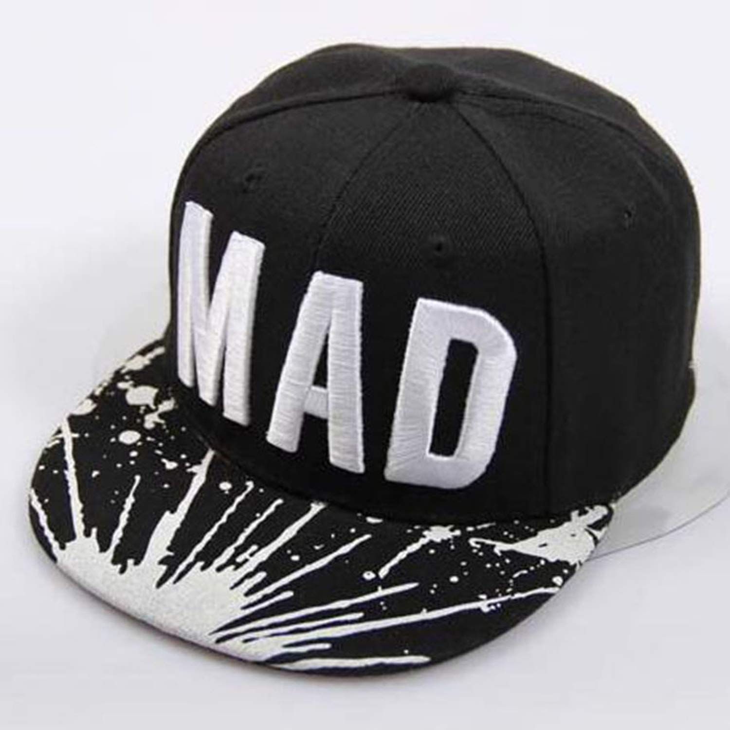 Trend Hat Snapback Cap Children Embroidery MAD Letter Baseball Caps Kid Boys and Girls Flat Hip Hop Cap