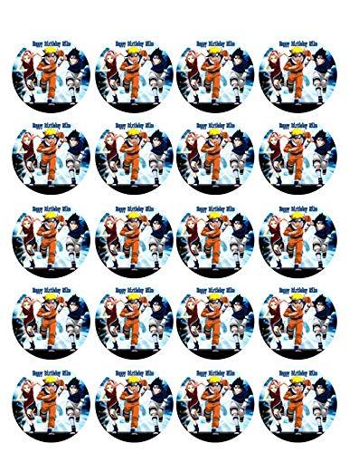 Naruto (Nr3) - Edible Cupcake Toppers - 1.8