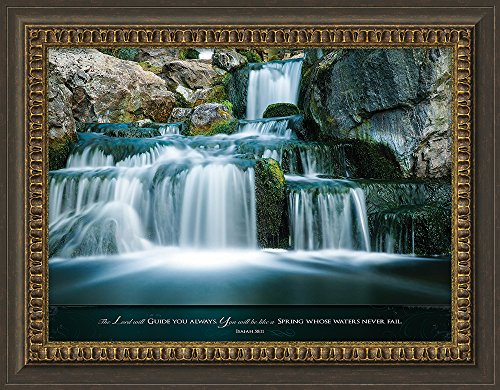 Carpentree 27.5'' x 23.5'' x 0.5'' the Lord Will Guide You Always Framed Art by Carpentree