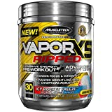 MuscleTech VaporX5 Ripped Preworkout, Long Lasting Energy,  Pre Workout Weight Loss, Icy Rocket Freeze, 30 servings