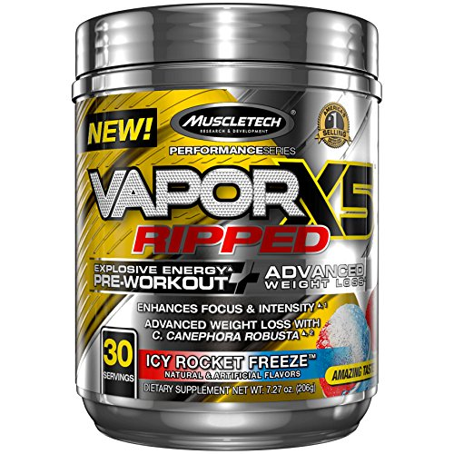 MuscleTech VaporX5 Preworkout Lasting servings