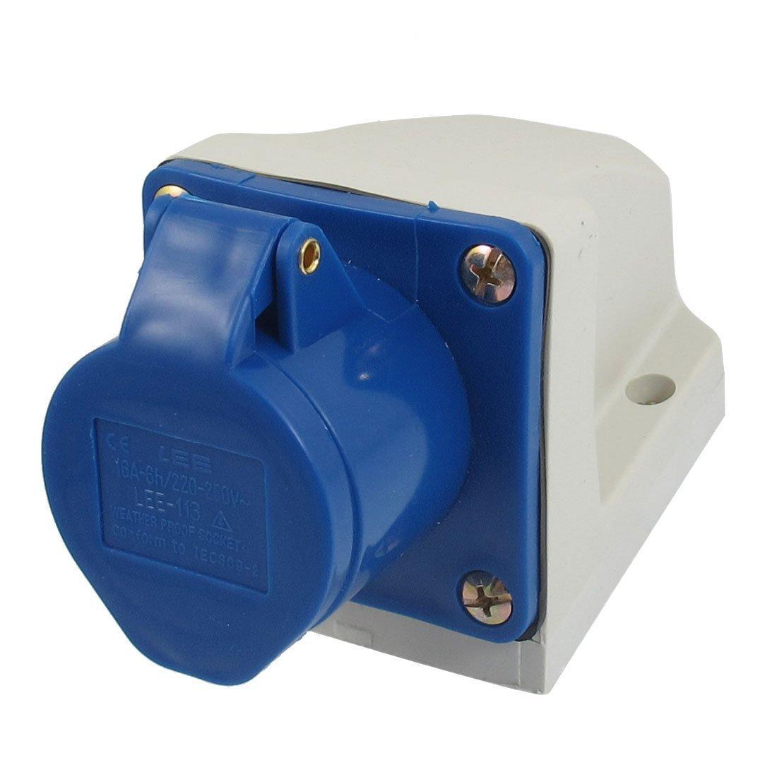 AC 220V-250V 16A 2P+E IEC309-2 Panel Mount Industrial Socket TRTASJNIEJ534