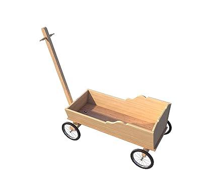 Planes de madera para niños para carrito de peluche, con mango largo para ir al