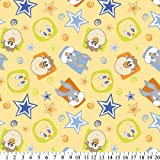 Baby Looney Tunes BEST FRIENDS Yellow FLEECE Fabric TWEETY BIRD, BUGS BUNNY, & TAZMANIAN DEVIL (Great for QUILTING, SEWING, CRAFT PROJECTS, THROW PILLOWS & More) 1 1/2 Yards x 60
