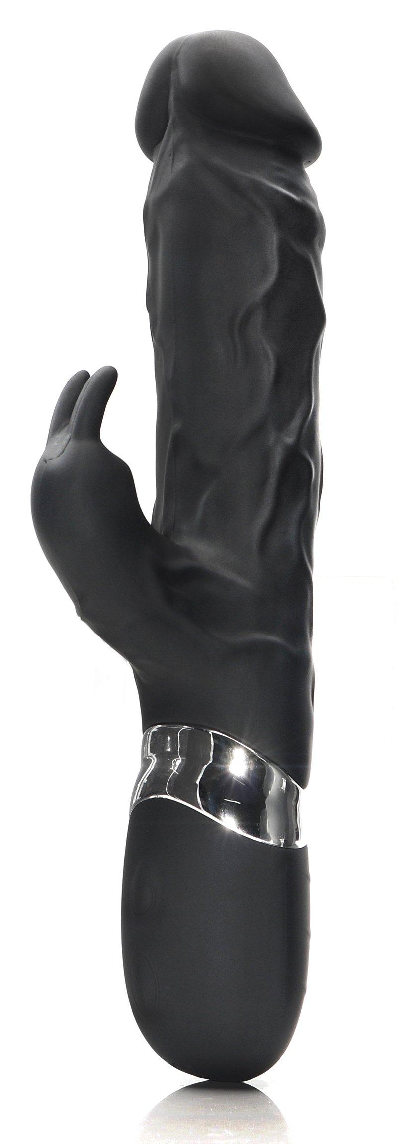 Badboy Black Vibrator Silicone Realistic Dildo Vibratory Massage Rechargeable Rabbit Vibrateur for Women Clitorial Stimulation Adult Toys