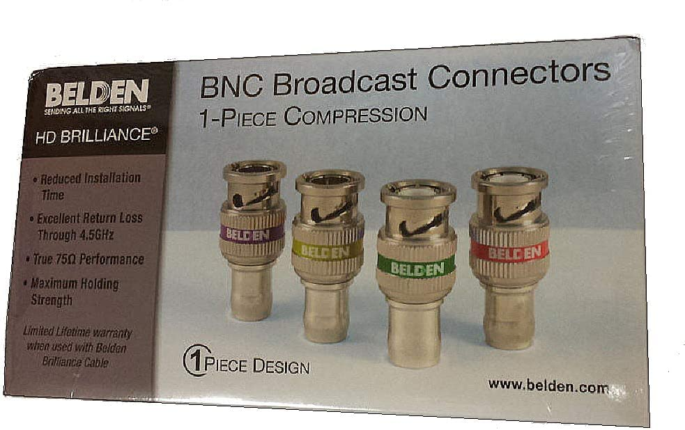 BOX-50 Belden 1505A-BHD1 1505A RG59 HD BNC 1-Piece Compression Connectors