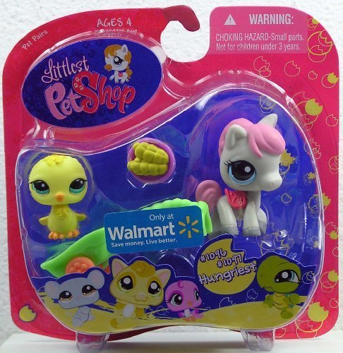 (Littlest Pet Shop Exclusive Hungriest Pet Pairs Figures Baby Chick and Pony with Corn)