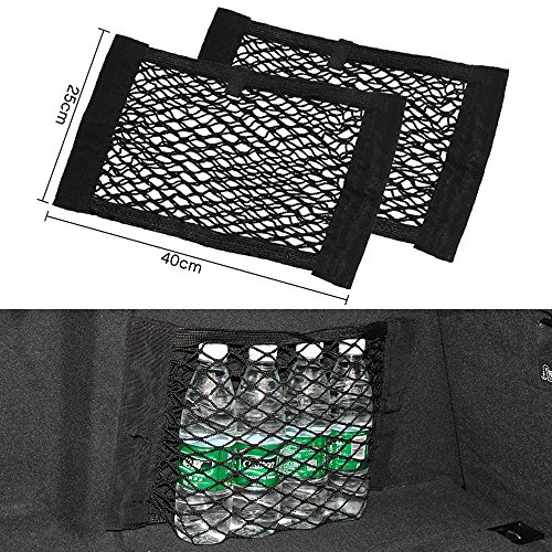 9 MOON Car Storage Net - Bottles, Groceries, Storage Add On Organizers for Car / Truck (Pack of 2)