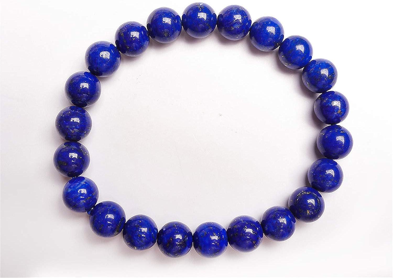 12mm Natural Blue Lapis Lazuli Gemstone Round Beads Bracelet AAAA