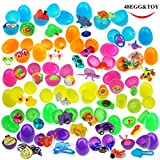 48 Toy Filled Bright Colorful Easter Eggs  2.5 Inches  Include 24 kinds of Popular Toys