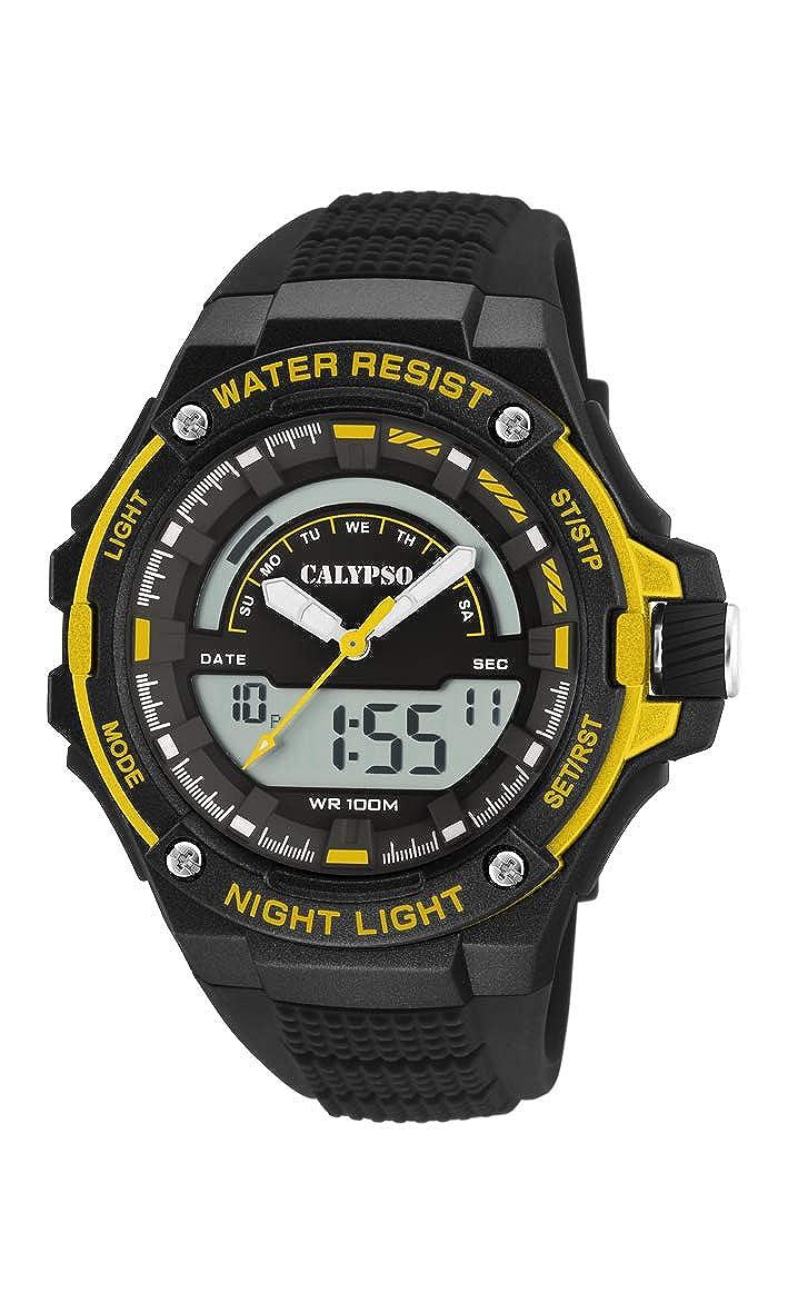 Calypso Watches Reloj Analógico-Digital para Hombre de Cuarzo con Correa en Plástico K5768/4: Amazon.es: Relojes