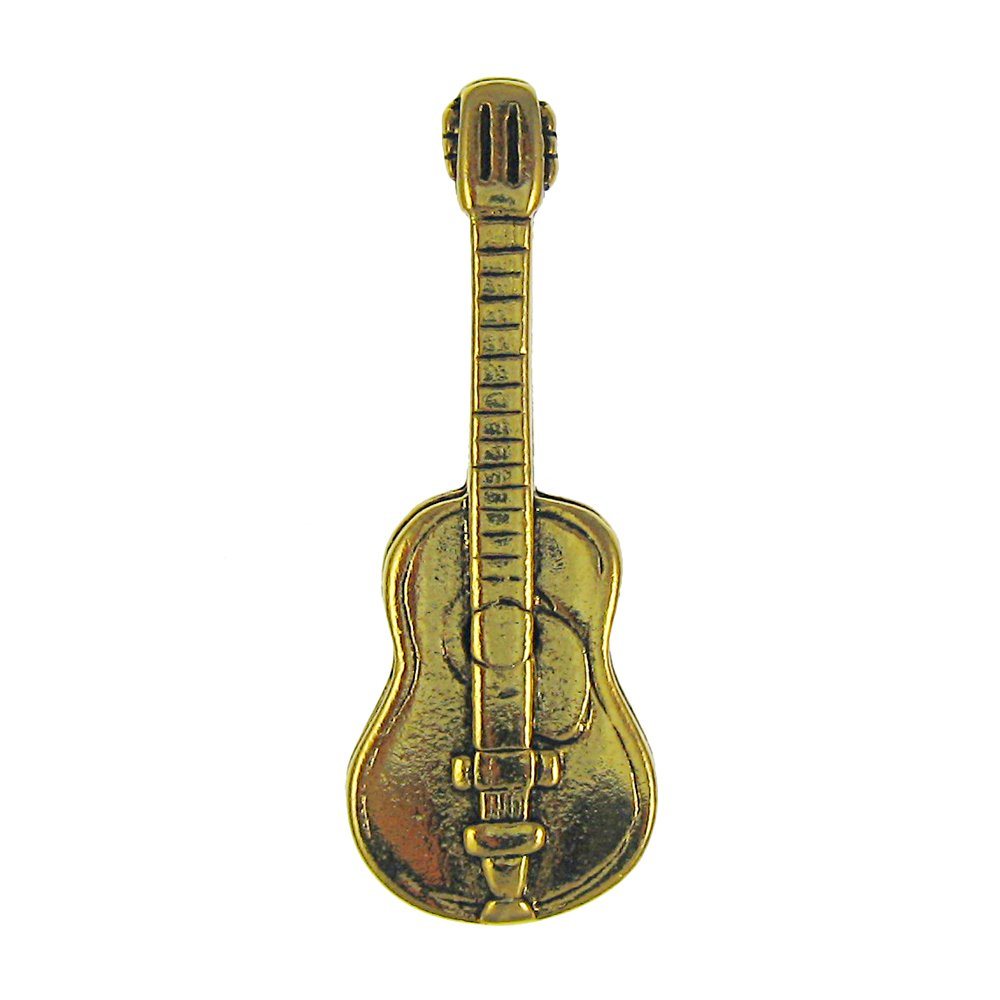 Acoustic Guitar Gold Lapel Pin - 50 Count