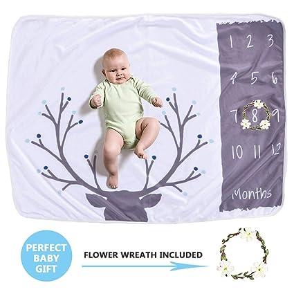 mensual bebé hito manta foto atrezzo brotes telón de fondo, recién ...