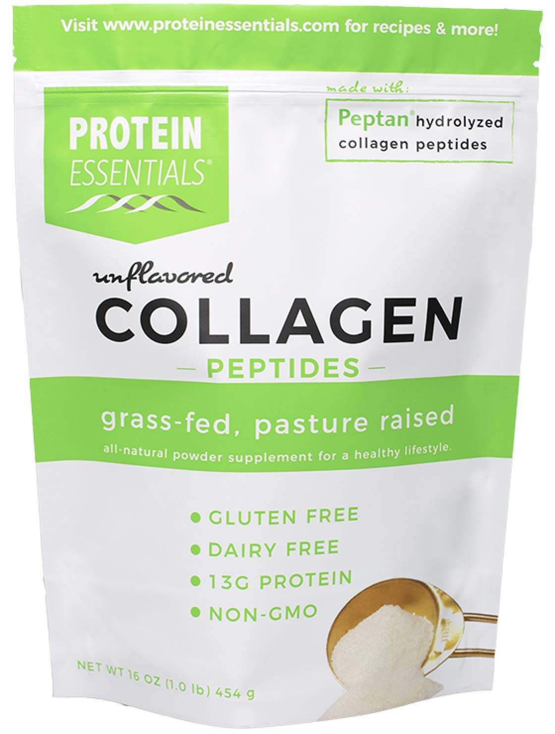 Protein Essentials Premium Collagen, Hydrolyzed Peptides Powder, NonGMO, Unflavored, Gluten & Dairy